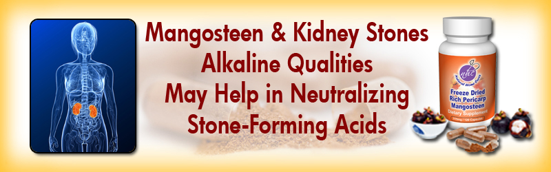 Natural Home Cures Freeze Dried Rich Pericarp Mangosteen May Help in Neutralizing Stone-Forming Acids Kidney Stones